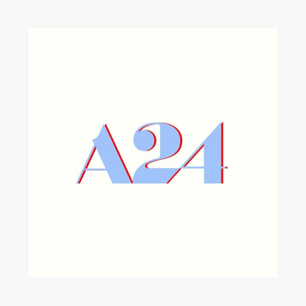 A24 Blue and Red Logo Art Print