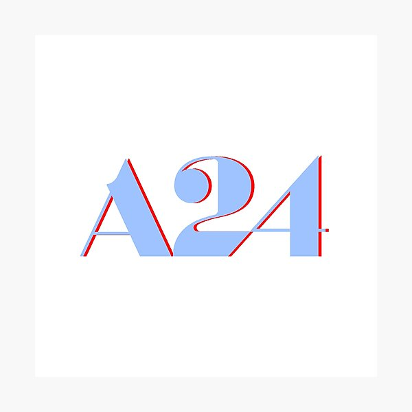 A24 Blue and Red Logo Photographic Print