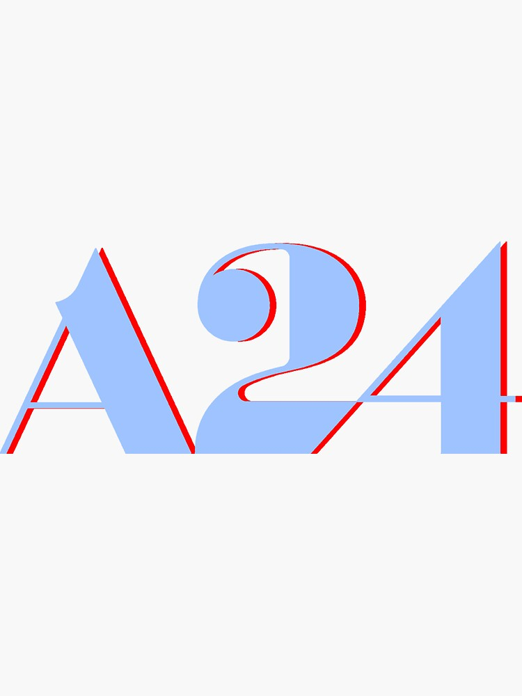 A24 Blue and Red Logo by dkonishi