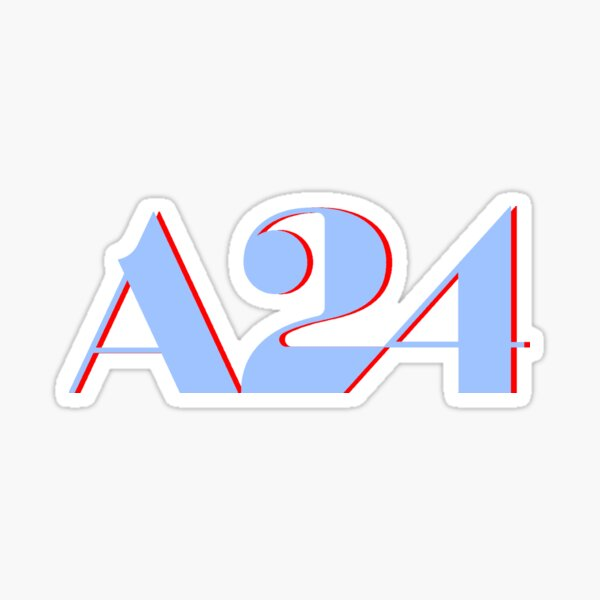 A24 Blue and Red Logo Sticker