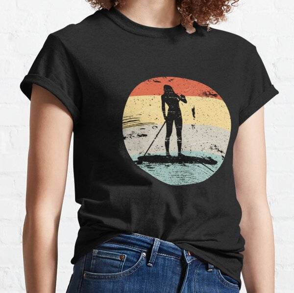 SUP Board Vintage Retro Look Gift Classic T-Shirt