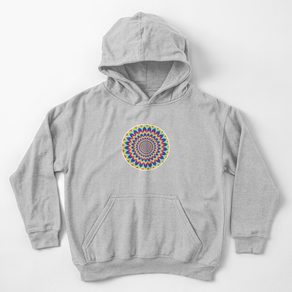 Psychedelic Art, ssrco,kids_hoodie,youth,heather_grey,flatlay_front,square,1000x1000-bg,f8f8f8