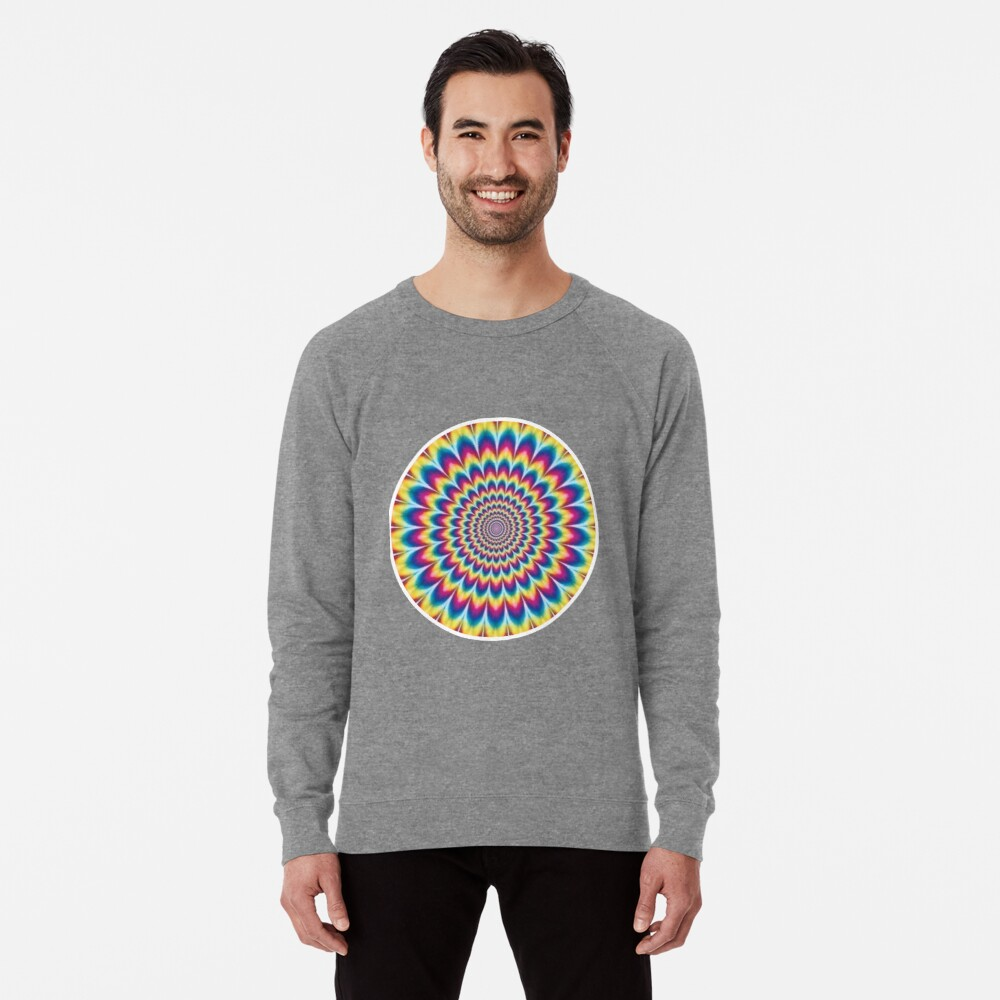 Psychedelic Art, ssrco,lightweight_sweatshirt,mens,heather_grey_lightweight_raglan_sweatshirt,front,square_three_quarter,x1000-bg,f8f8f8