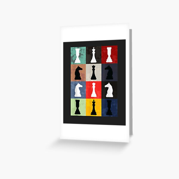 Vintage Retro Chess - Perfect gift for chess players Greeting Card
