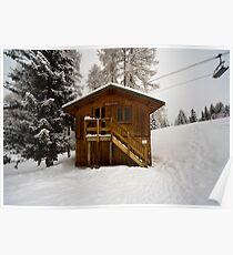 Two Storey Ski Toilet Poster