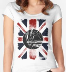 God Save the Alien Queen Women's Fitted Scoop T-Shirt