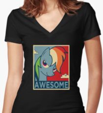AWESOME Women's Fitted V-Neck T-Shirt