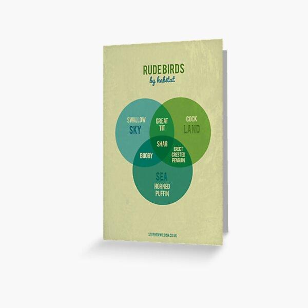 Rude Birds by Habitat Greeting Card