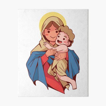 CUTE VIRGIN MARY Art Board Print
