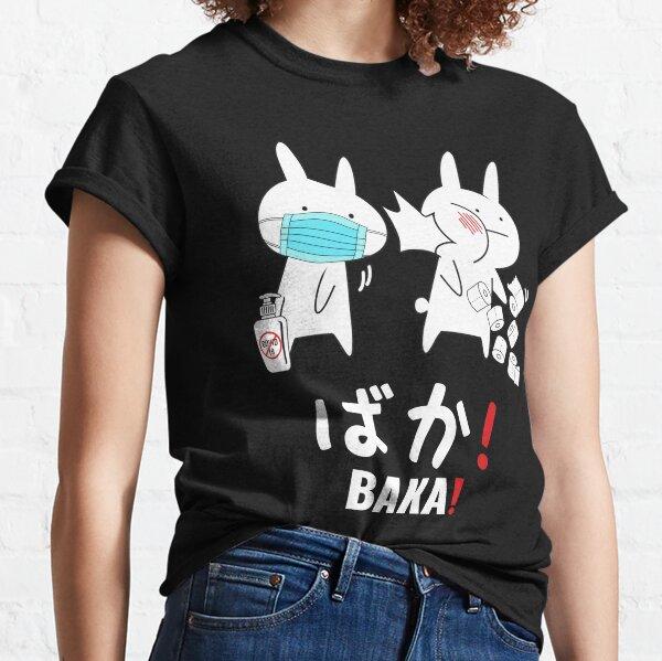 Chemise Anime Baka, cadeau Baka, claque de lapin japonais Baka T-shirt classique