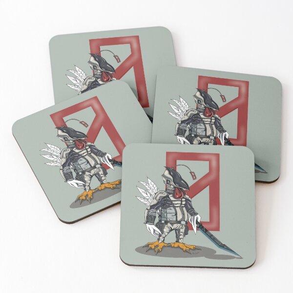 My Cosplay Chickens Borderlands Zer0 Coasters (Set of 4)