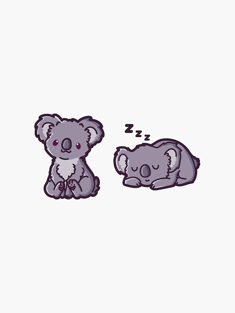 Adorable Koala Durmiente Kawaii de auror