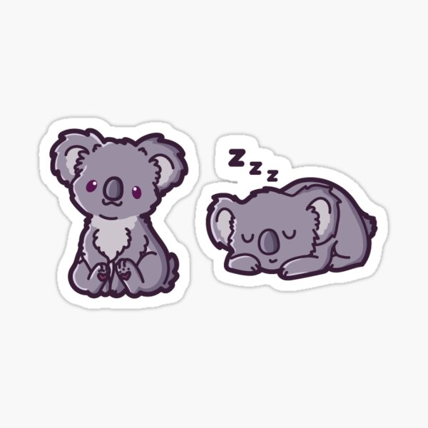 Adorable Sleeping Koala Kawaii Sticker