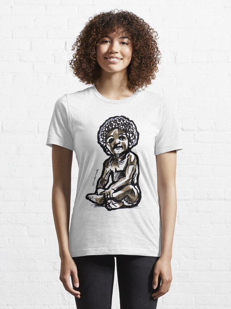 Alternate view of Baby with an afro Essential T-Shirt