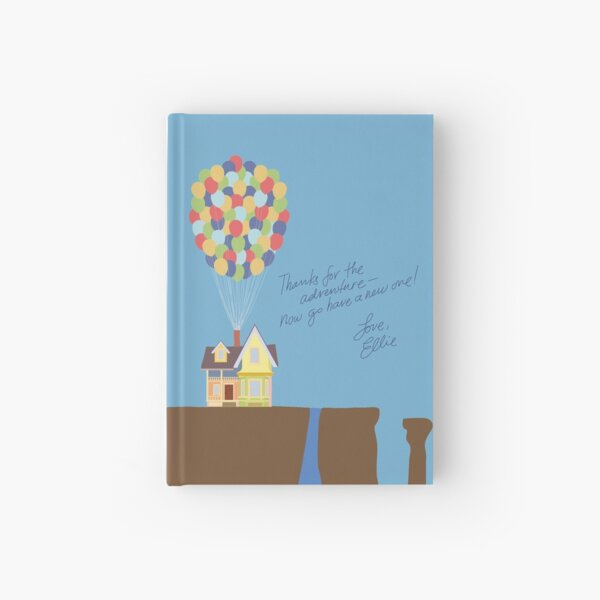 Colourful House on Cliff with Handwritten Quote Hardcover Journal