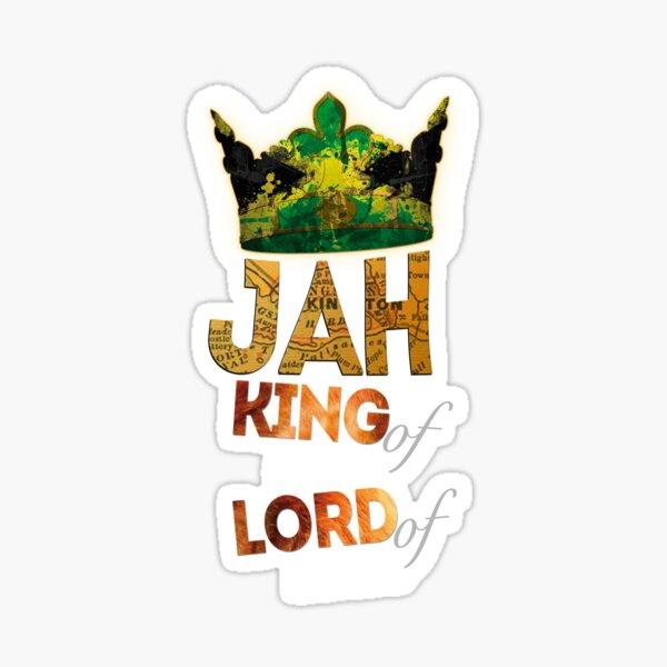 Jah King Of Kings Jamaica Rasta Flag Reggae Roots Dreads Sticker