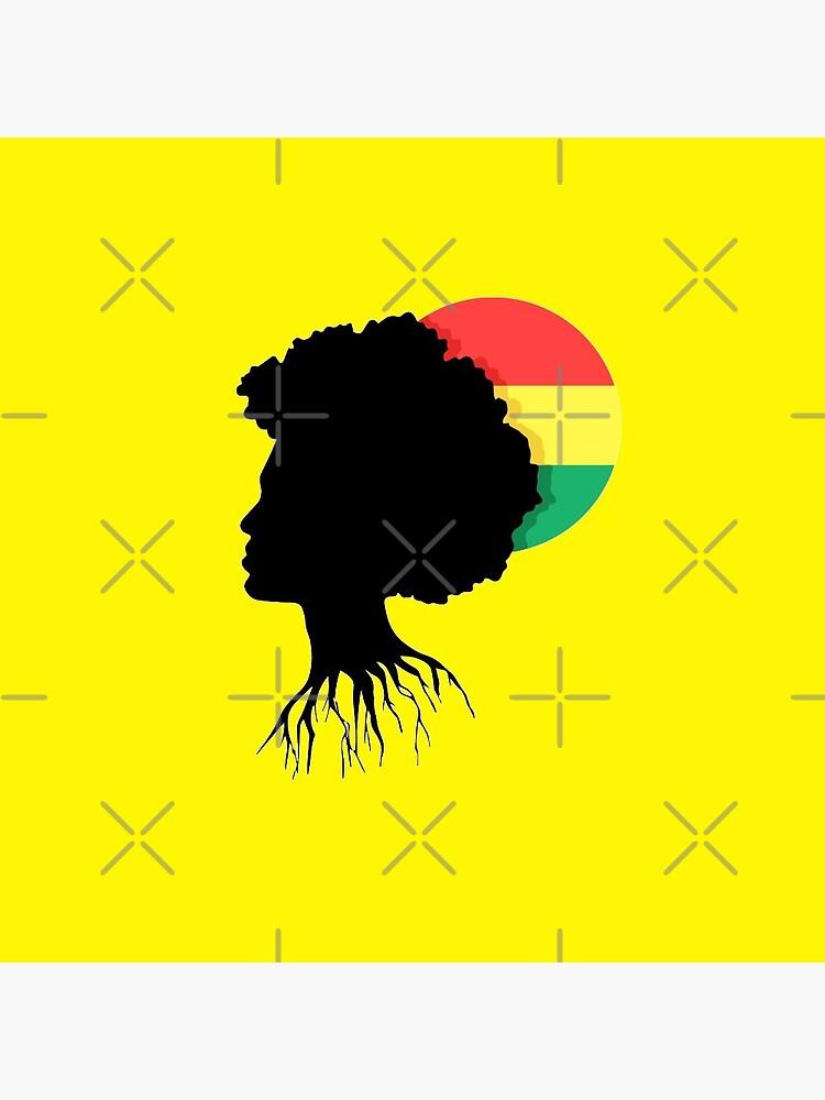 Rasta Dreads Reggae Roots Empress Ethiopian Flag by thespottydogg
