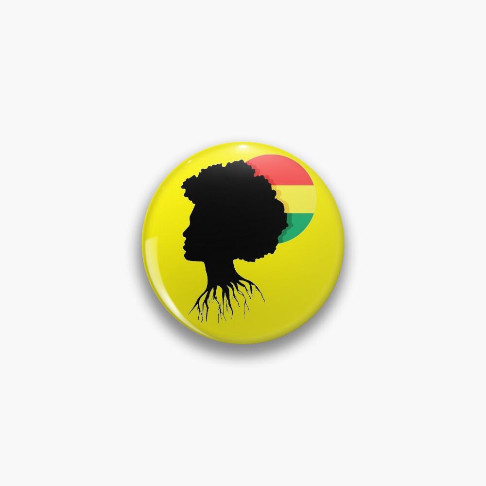 Rasta Dreads Reggae Roots Empress Ethiopian Flag Pin