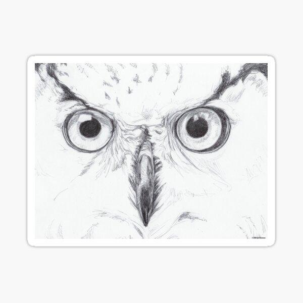 owl sketch Sticker