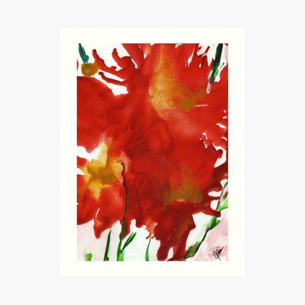 Flaming Iris Art Print