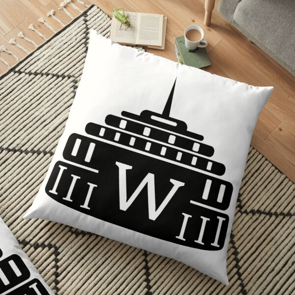 Icon Wroclaw Hala Stulecia - Centennial Hall Floor Pillow