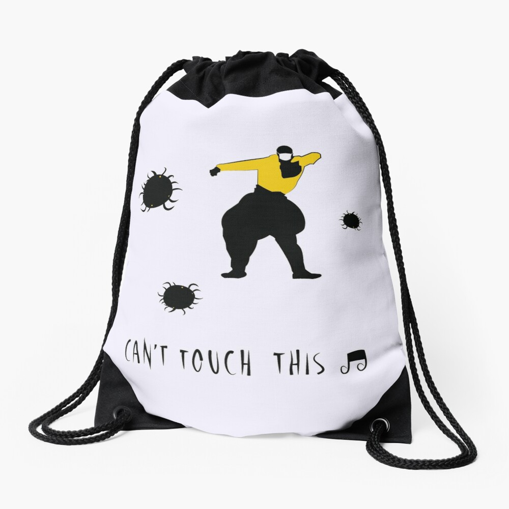Can't touch this corona Drawstring Bag