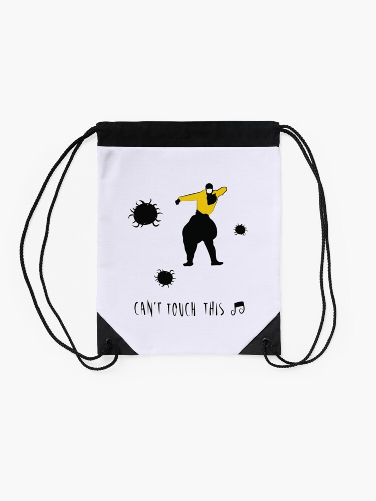 Alternate view of Can't touch this corona Drawstring Bag