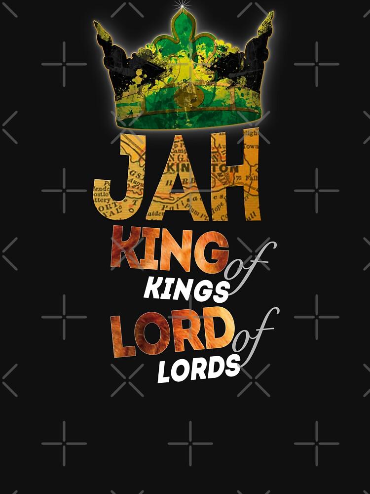 Jah King Of Kings Jamaica Rasta Flag Reggae Roots Dreads by thespottydogg