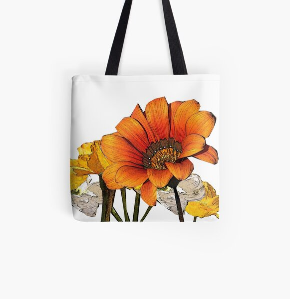 The Sparrow's Golden Field All Over Print Tote Bag