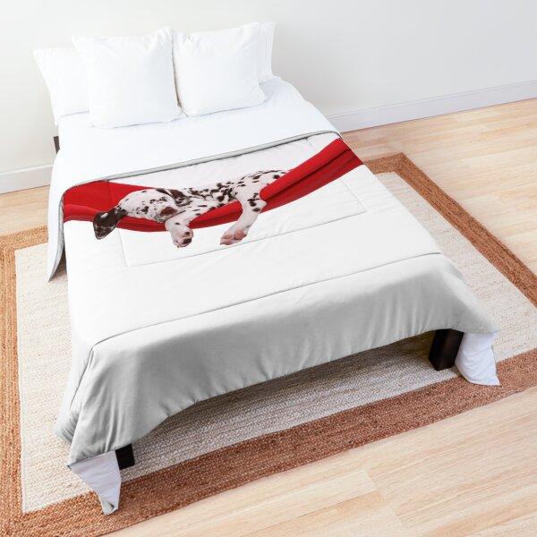 sleeping Dalmatian puppy Comforter