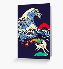 The Great Wave off Oni Island Greeting Card