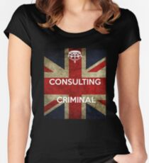 consulting criminal Women's Fitted Scoop T-Shirt
