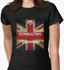 consulting criminal Women's Fitted T-Shirt