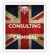 consulting criminal Sticker