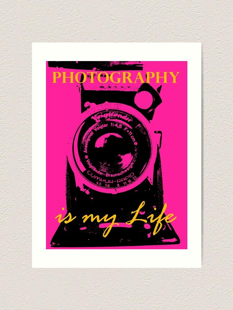 Alternative Ansicht von Photography is my Life schwarz pink gold Kunstdruck