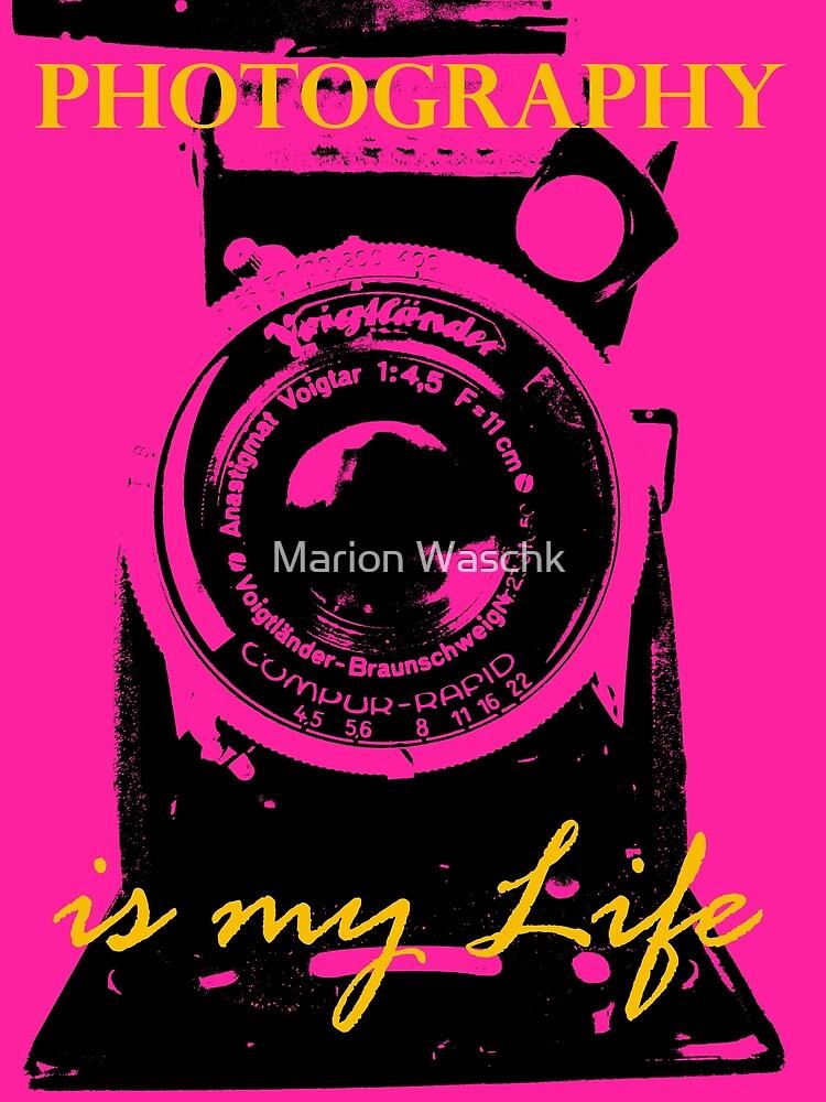 Photography is my Life schwarz pink gold von mwart