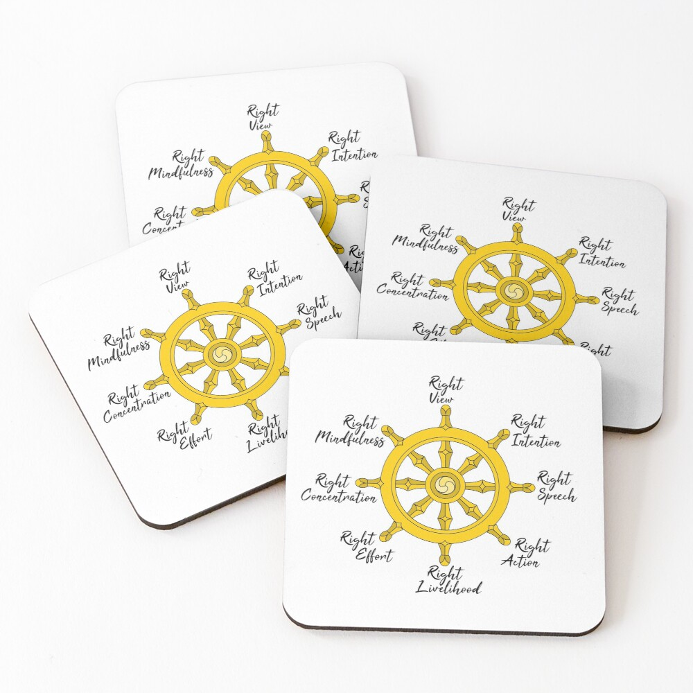 The Noble Eightfold path Coasters (Set of 4)