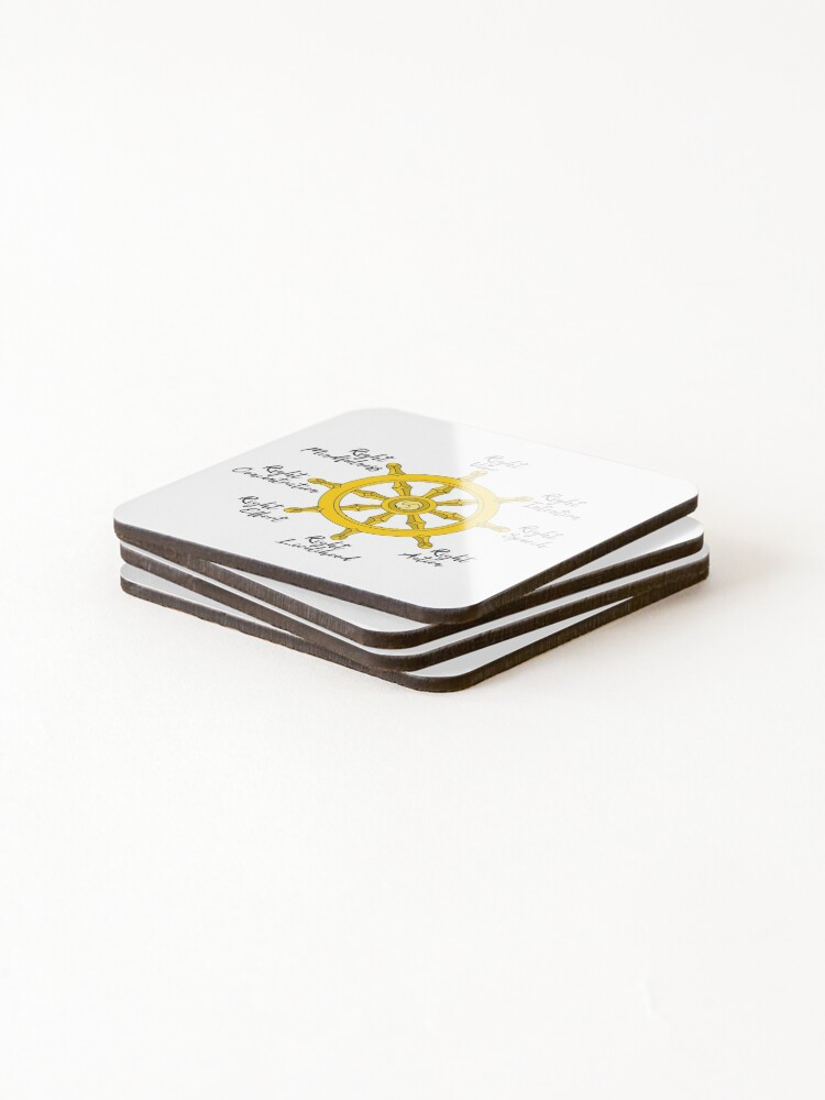Alternate view of The Noble Eightfold path Coasters (Set of 4)