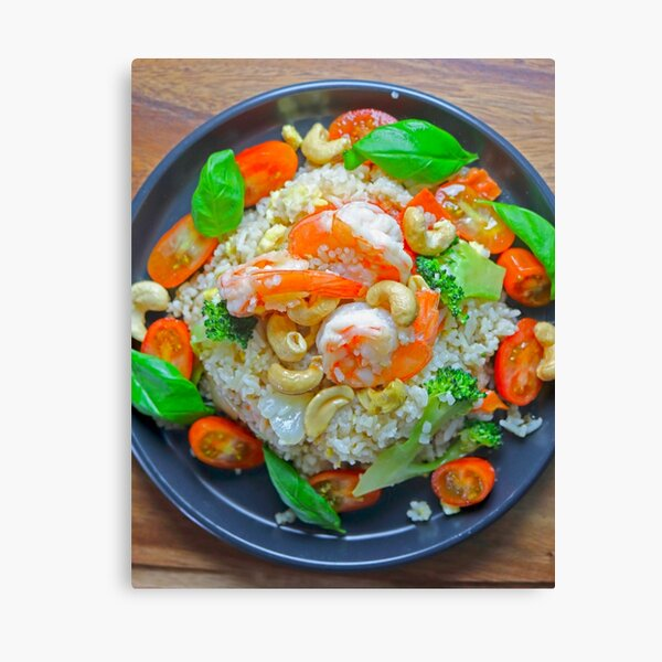 Fried Rice With Shrimp Canvas Print