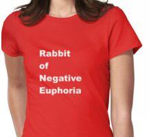 Rabbit of Negative Euphoria Womens Fitted T-Shirt