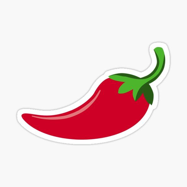 Red Chilli Pepper Vegetable Wall Sticker Pack WS-46781/_MP