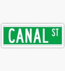 Canal St., New York Street Sign, USA Sticker