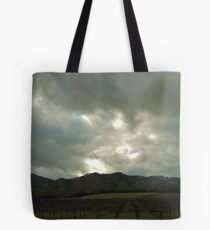 April Skys Over Vineyards  Tote Bag