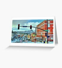 After A Snowstorm In Prescott Arizona  Greeting Card