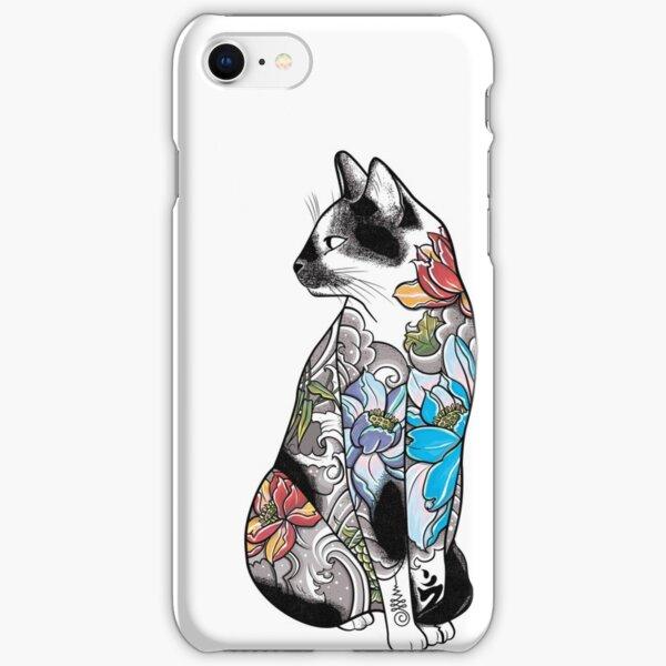 Cat in Lotus Tattoo iPhone Snap Case