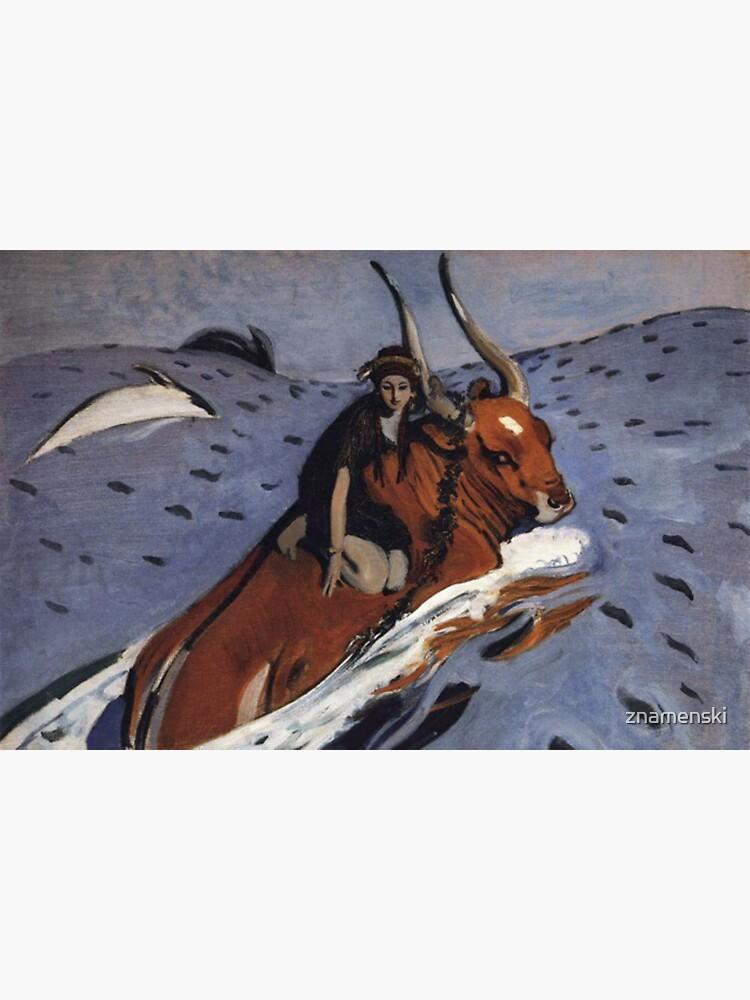 The Rape of Europa, Artwork, Artist: Valentin Serov, Created: 1910 by znamenski