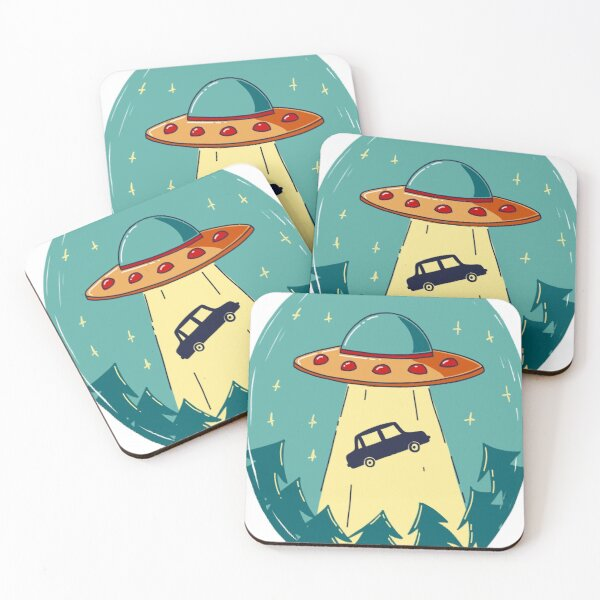 Abduction in the Car Coasters (Set of 4)