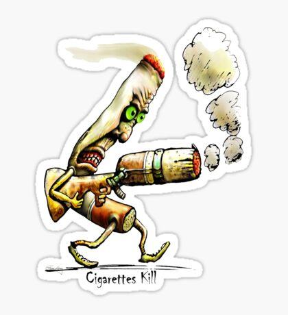 Cigarettes Kill Sticker