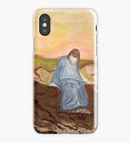 Jesus in prayer iPhone Case