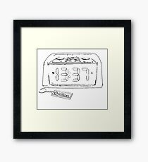 Retro Game Time Sketch Framed Print